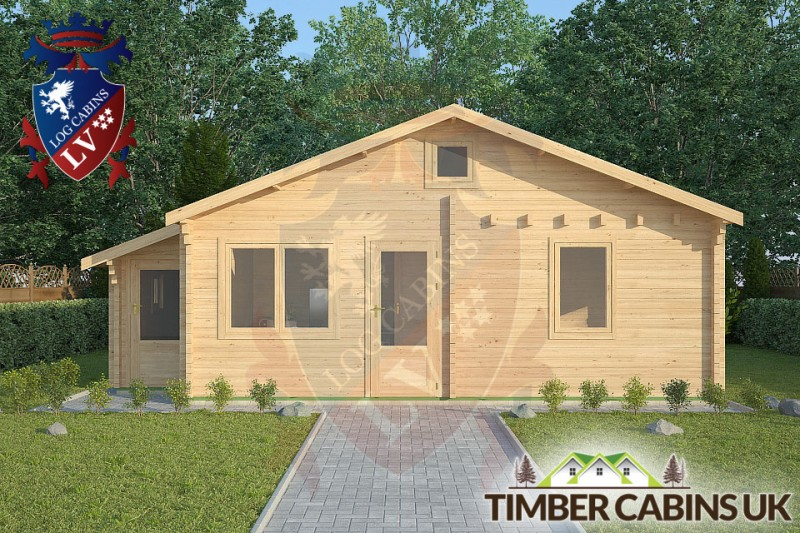 Log Cabin Fleetwood 7.7m x 4.5m 001
