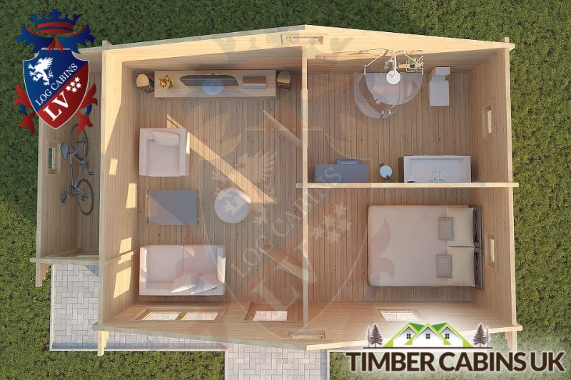 Log Cabin Fleetwood 7.7m x 4.5m 001
