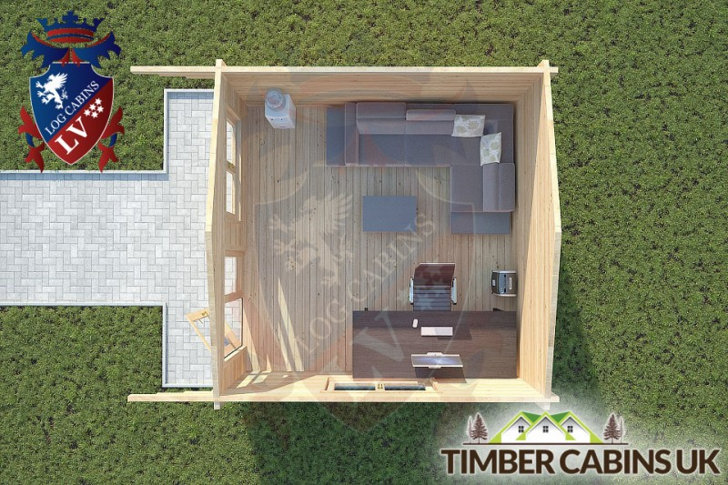 Log Cabin Gisburn 4m x 4m 001
