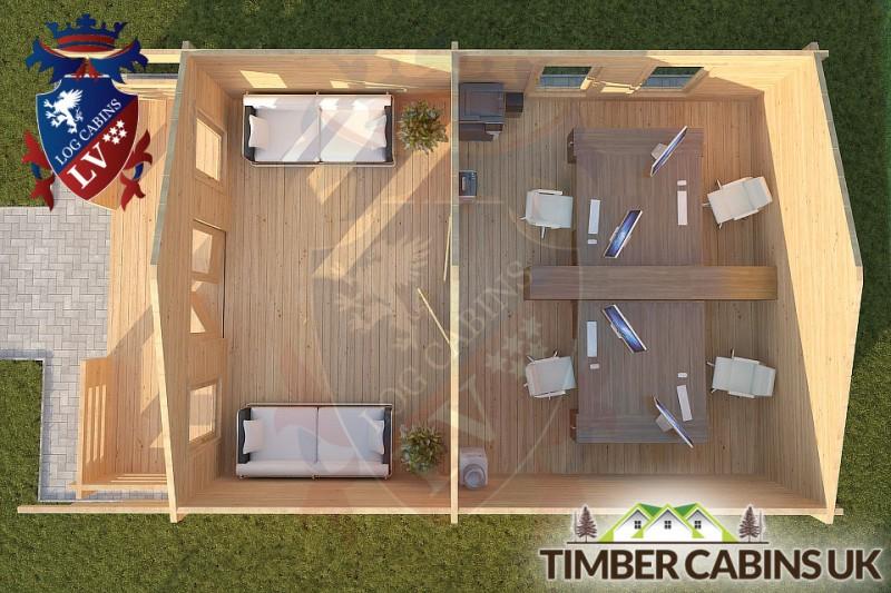Log Cabin Hornby 5m x 7m 001