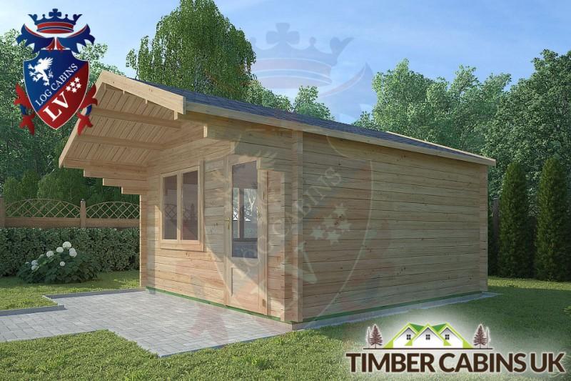 Log Cabin Hurst Green 4m x 4m 001