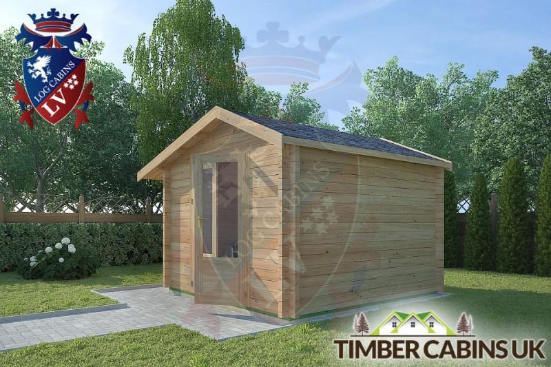 Log Cabin Leigh 3m x 3m 001
