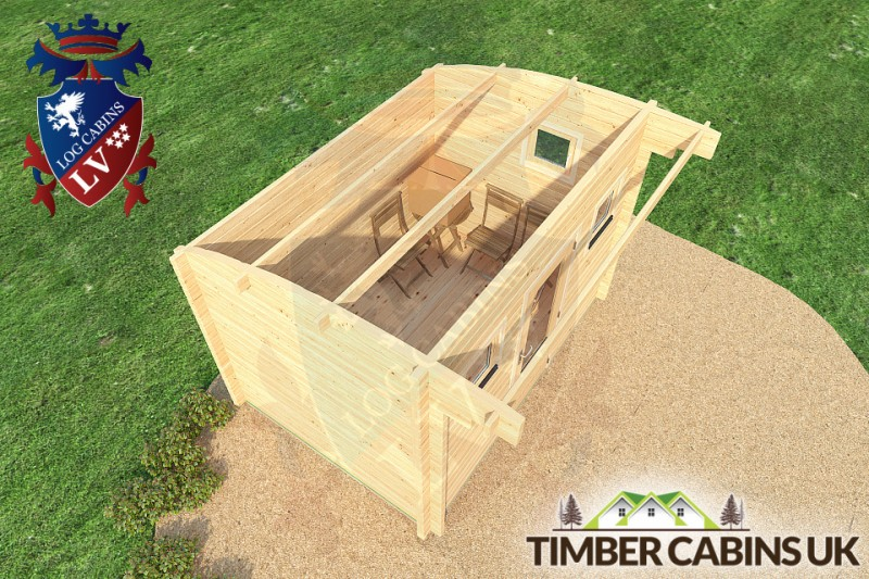Log Cabin Liverpool 3.5m x 2.5m 001