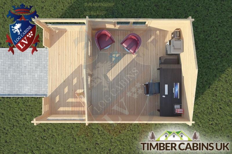Log Cabin Longridge 4m x 4m 001