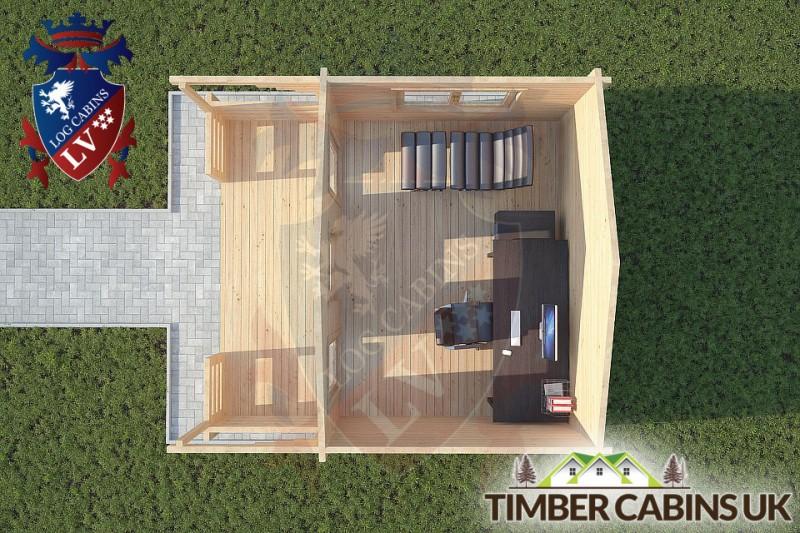 Log Cabin Lytham 4m x 3m 001