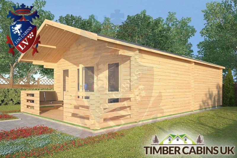 Log Cabin Melling 5m x 8m 001