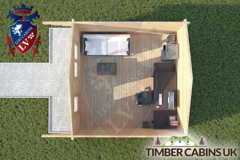 Log Cabin Mitton 4m x 4m 001
