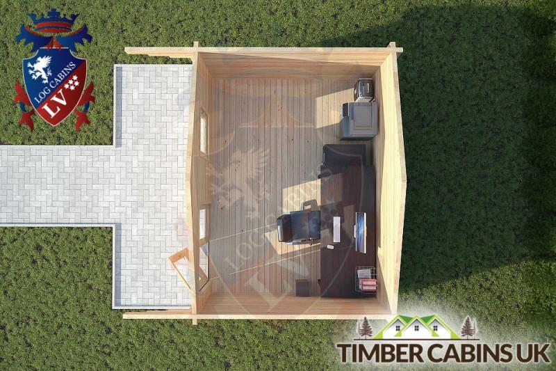 Log Cabin Newton-in Bowland 4m x 3m 001