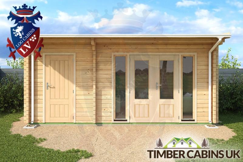 Log Cabin North Tyneside 5.5m x 3.5m 001