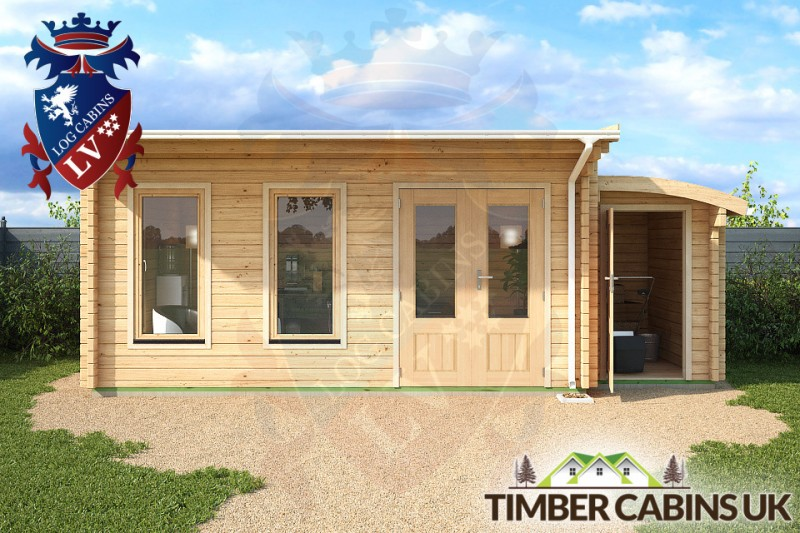 Log Cabin Nottingham 6.5m x 3.5m 001