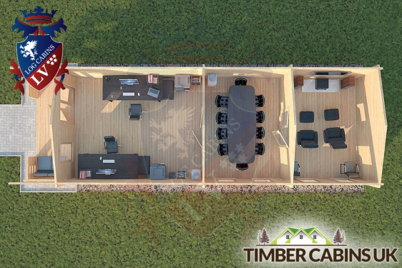 Log Cabin Ormskirk 4m x 11.5m 001