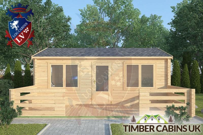 Log Cabin Parbold 6m x 4m 001