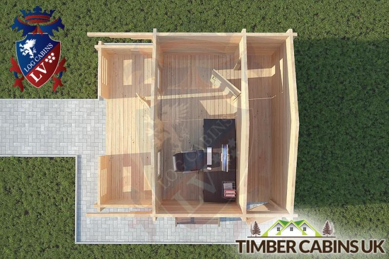 Log Cabin Poulton-le-Fylde 4m x 3m 001