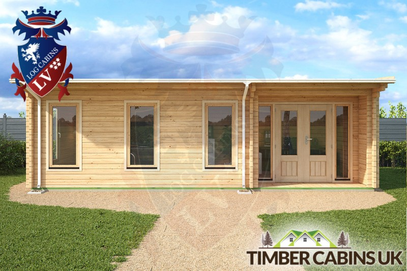 Log Cabin Rhondda 8m x 3.5m 001