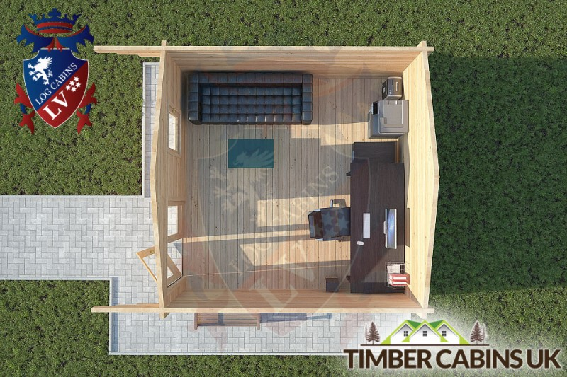 Log Cabin Ribchester 4m x 4m 001