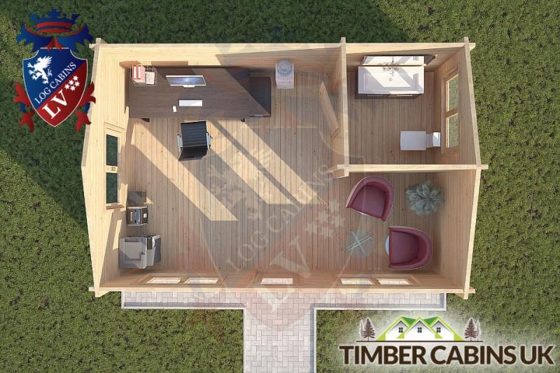 Log Cabin Rufford 6m x 4m 001