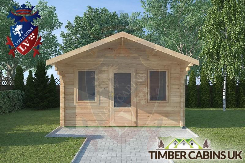 Log Cabin Sabden 4m x 4m 001