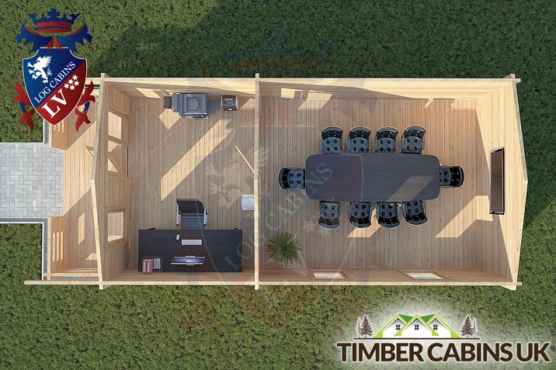Log Cabin Salford 4m x 8m 001