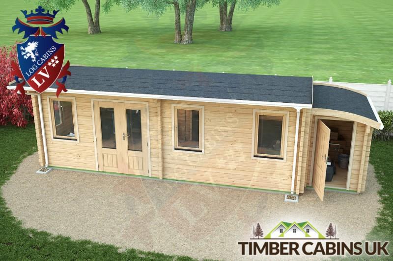 Log Cabin Salford 8.5m x 3.5m 001