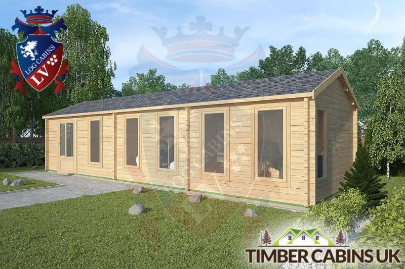 Log Cabin Samlesbury 10.5m x 3.5m 001