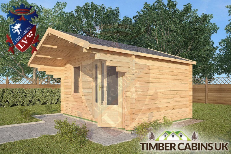 Log Cabin Sawley 4m x 3m 001