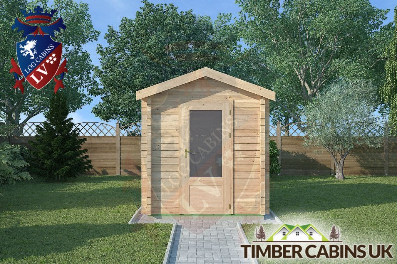 Log Cabin Scottish Borders 2m x 2m 001