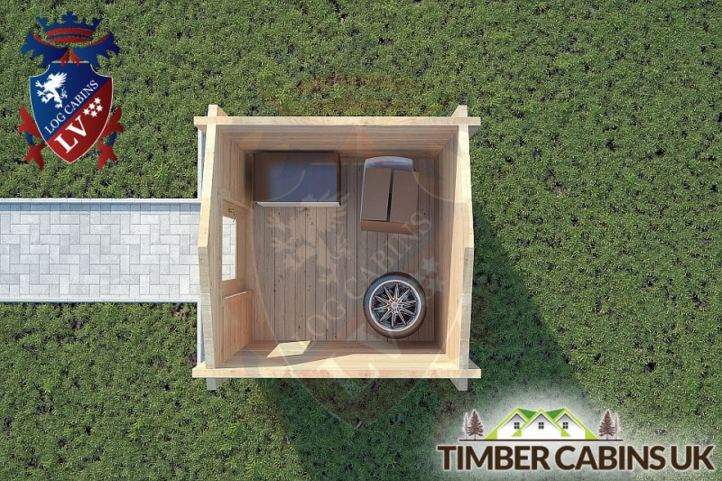 Log Cabin Scottish Borders 2m x 2m 001