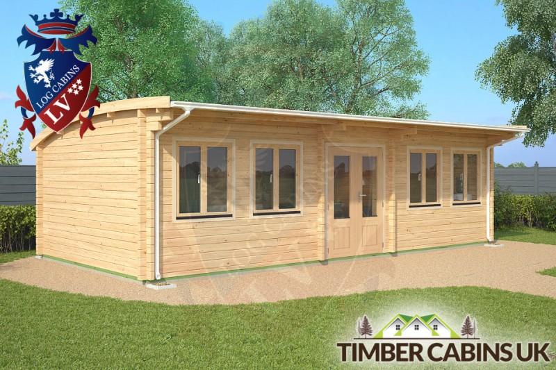 Log Cabin Solihull 8.5m x 4m 001