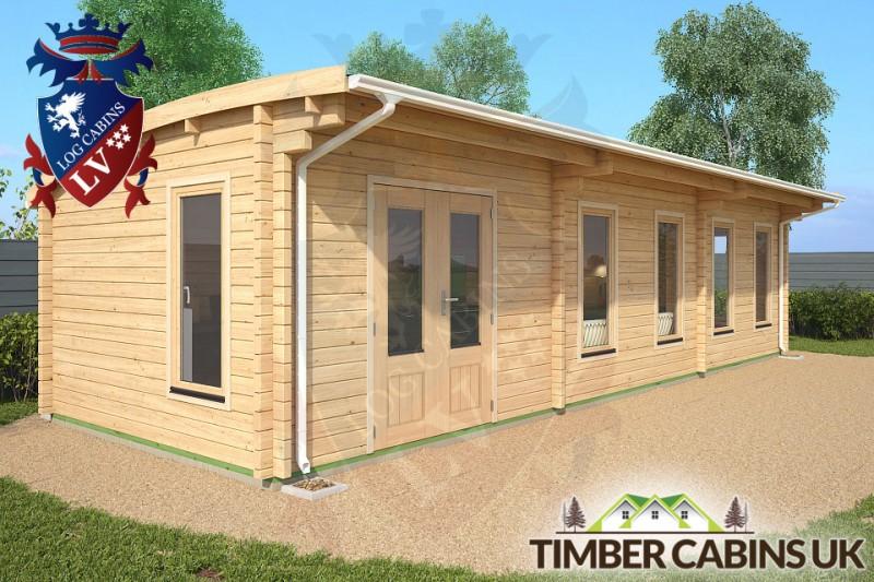 Log Cabin Southampton 10m x 3.5m 001