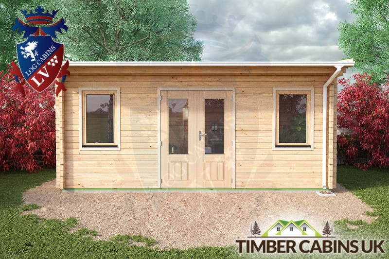Log Cabin Stockport 5.5m x 3.5m 001