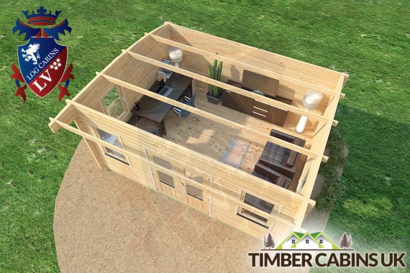 Log Cabin Sunderland 5m x 4m 001