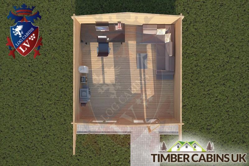 Log Cabin Swanland 5m x 5m 001