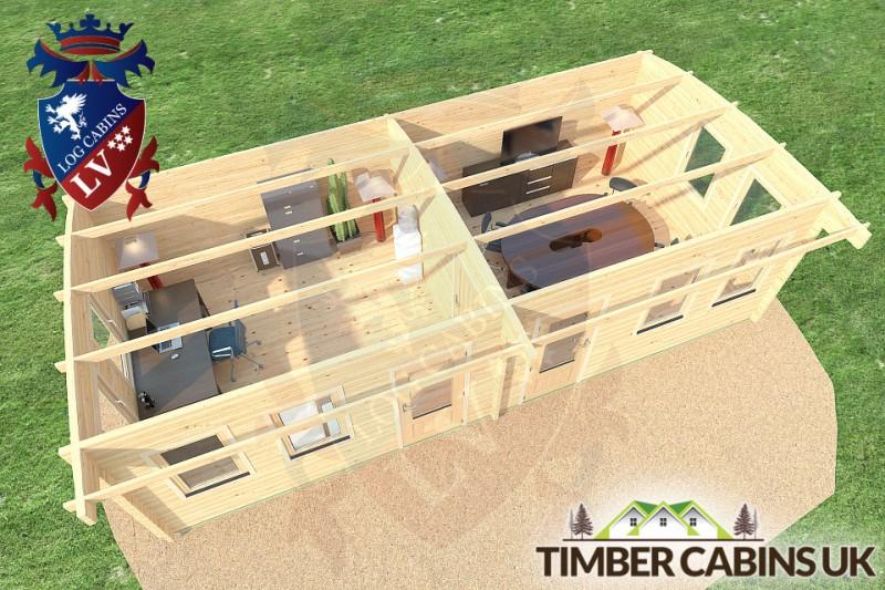 Log Cabin Swansea 8.5m x 4m 001