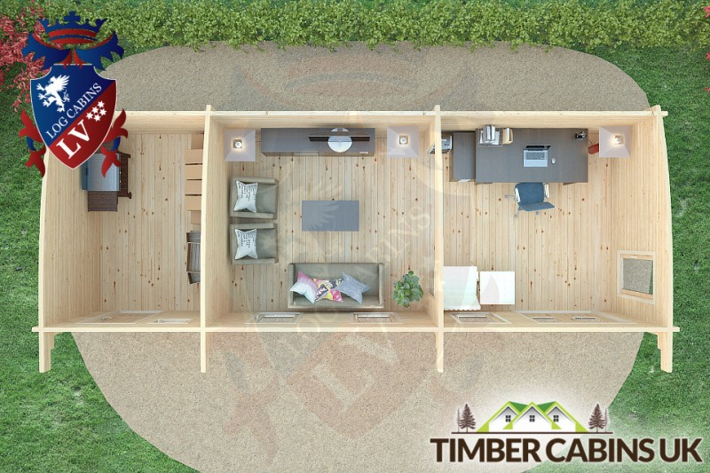 Log Cabin Tameside 9.5m x 3.5m 001