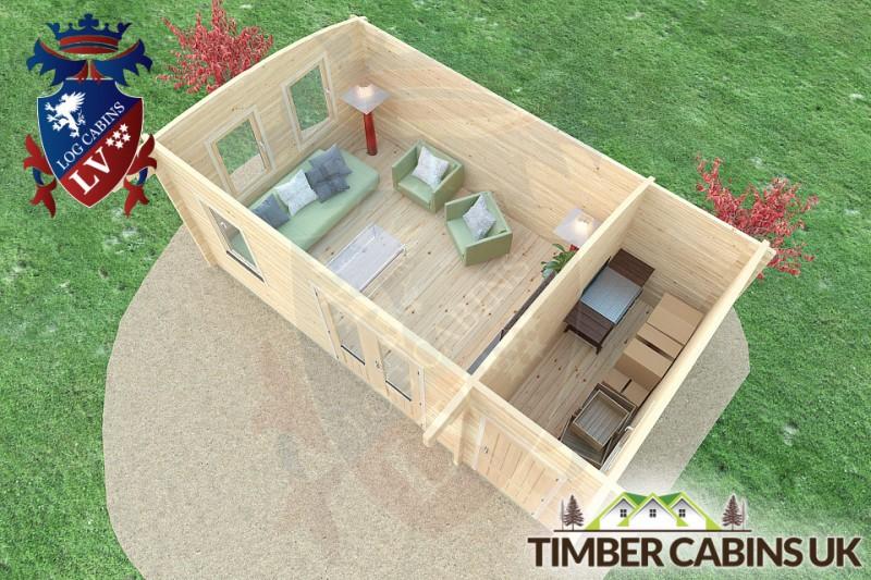 Log Cabin Walsall 6m x 3.5m 001