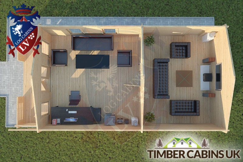 Log Cabin Wennington 5m x 9m 001