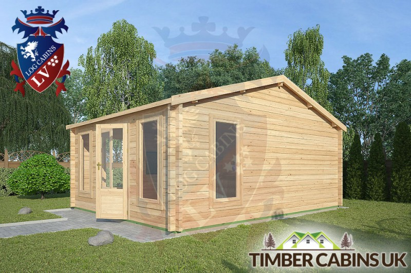 Log Cabin Whitewell 4.5m x 5.5m 001