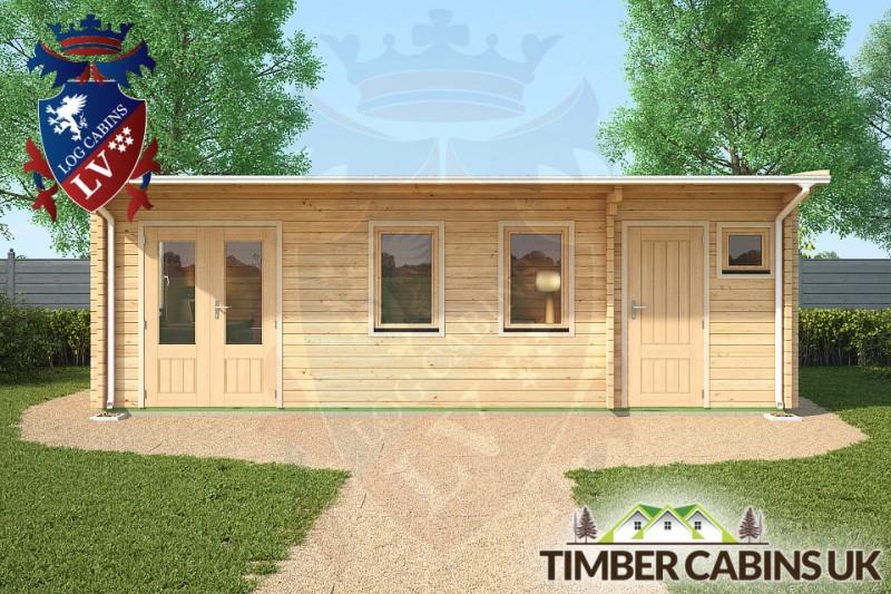 Log Cabin Wolverhampton 7.5m x 4m 001