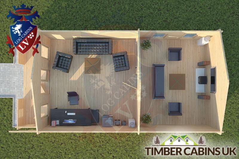 Log Cabin Wray 5m x 9m 001