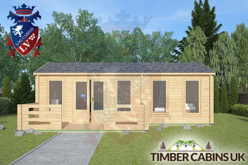Log Cabin Wrightington 7.5m x 4.5m 001