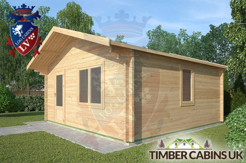 Log Cabin Yealand Conyer 5m x 5m 001