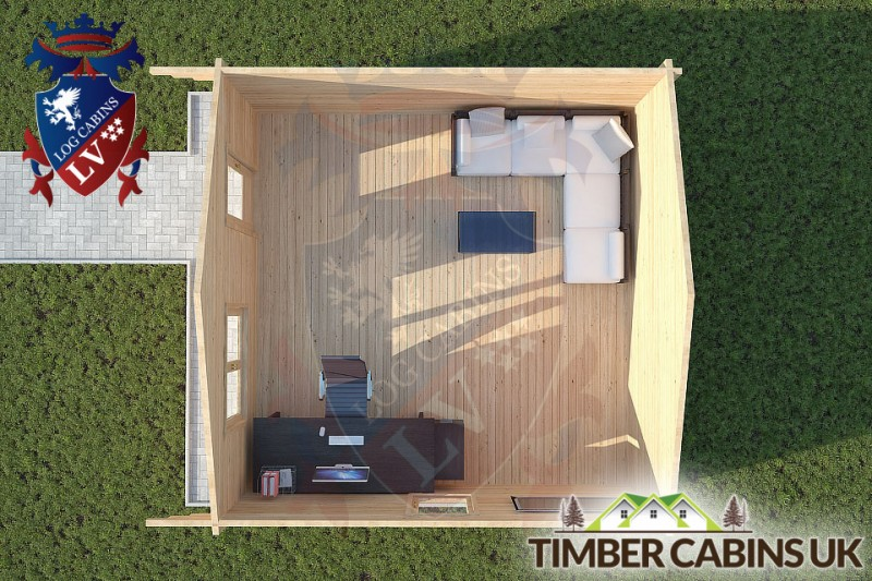 Log Cabin Yealand Conyer 5m x 5m 001
