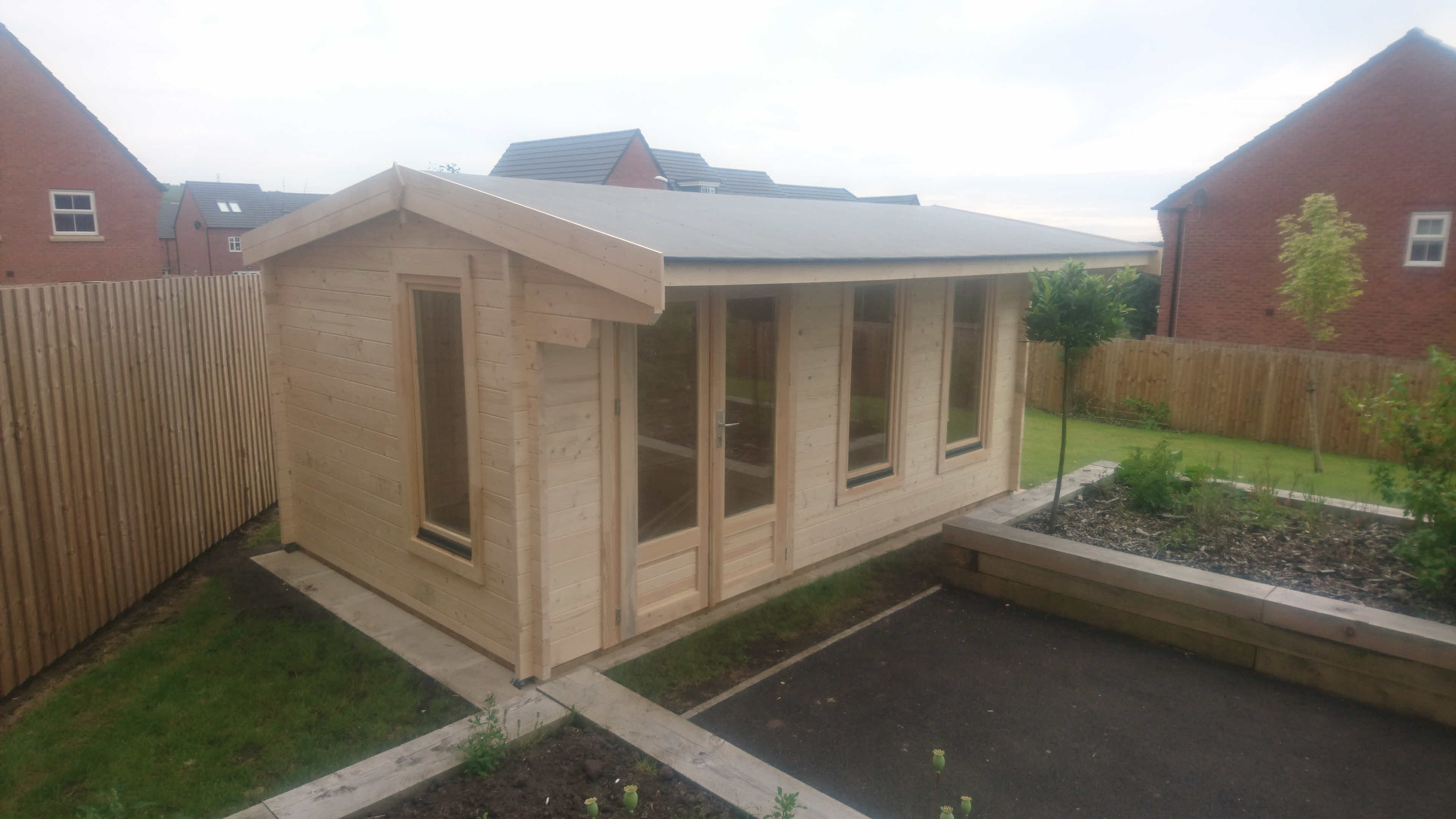 Log Cabin Installation in Blackburn Bespoke Lisburn 5m x 3m