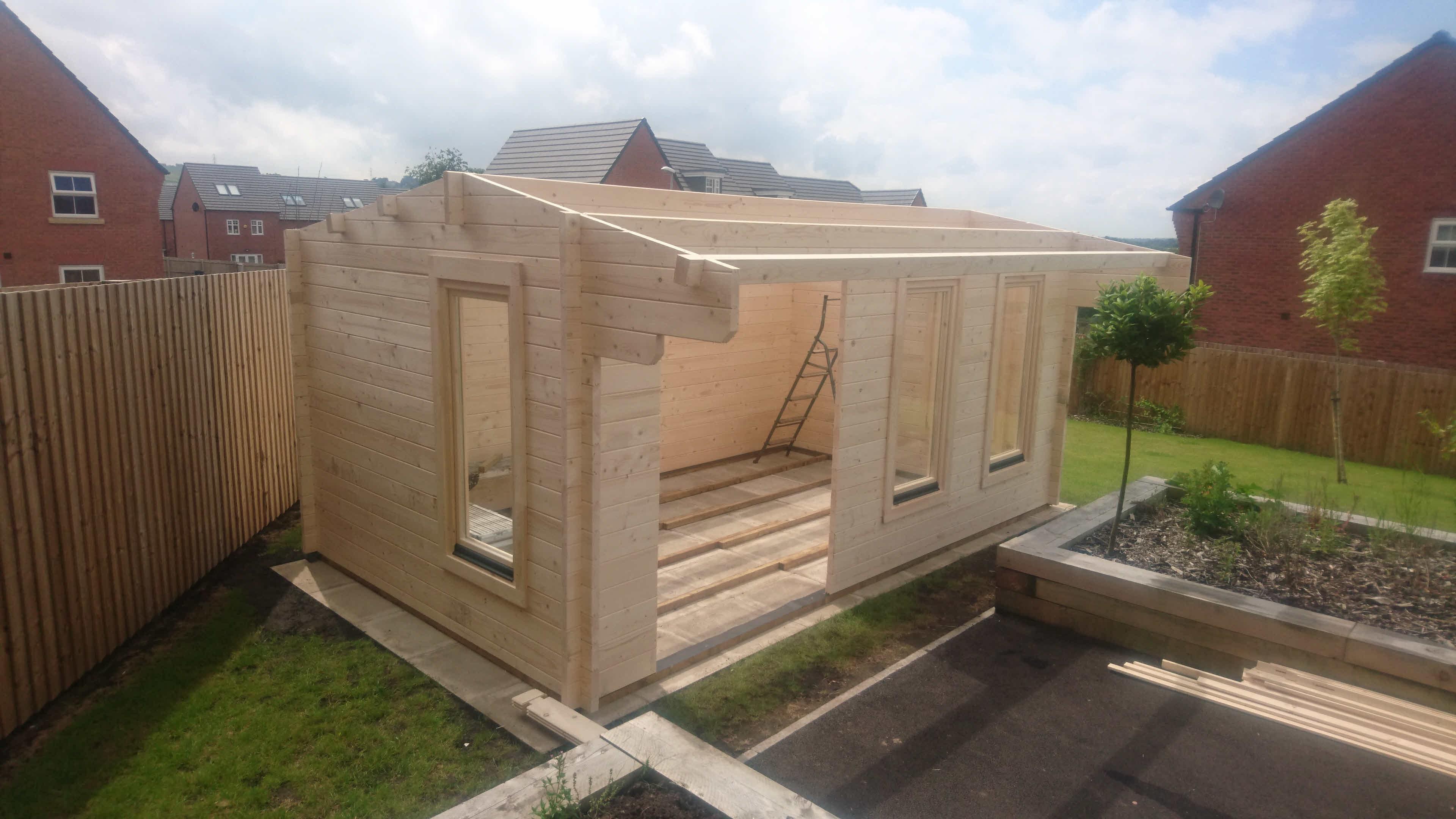 Log Cabin Installation in Blackburn Bespoke Lisburn 5m x 3m_2
