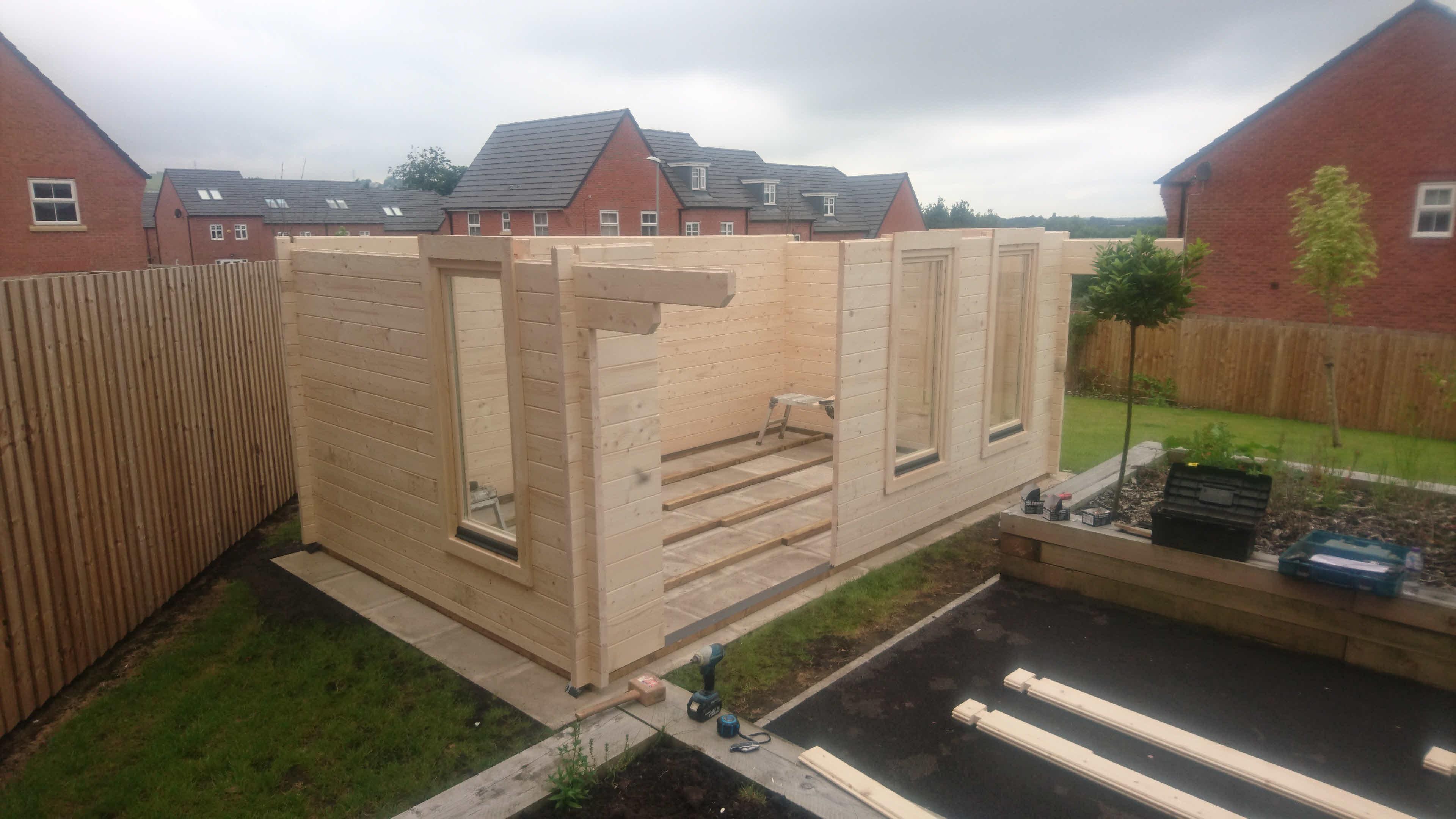Log Cabin Installation in Blackburn Bespoke Lisburn 5m x 3m_3