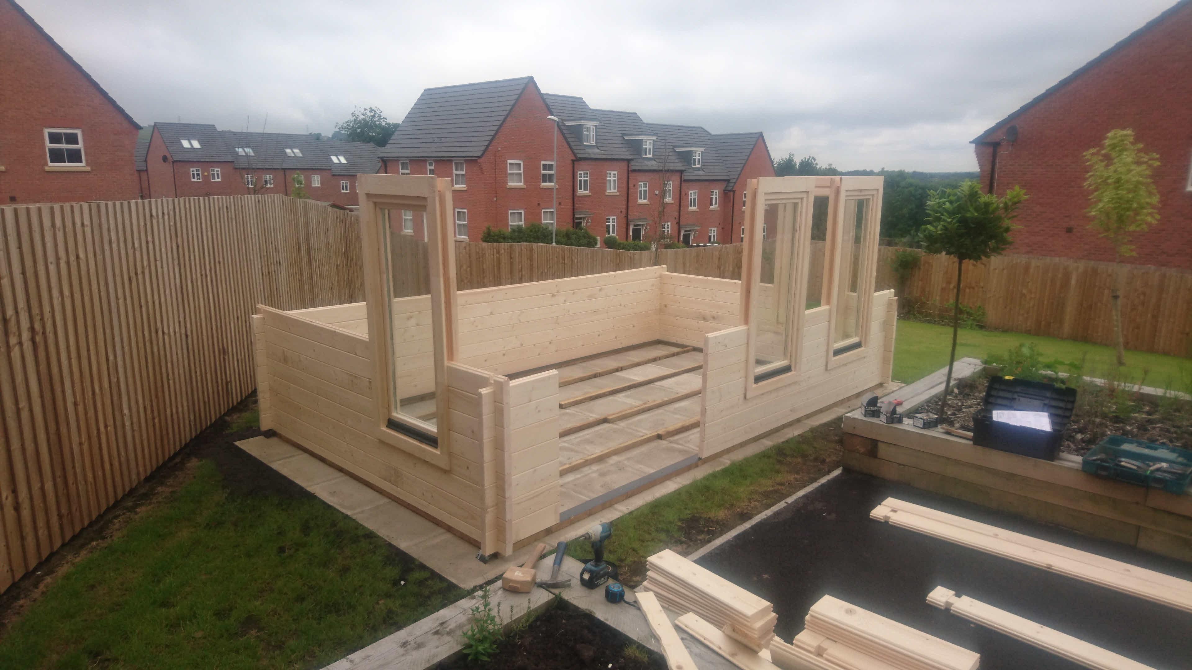 Log Cabin Installation in Blackburn Bespoke Lisburn 5m x 3m_4