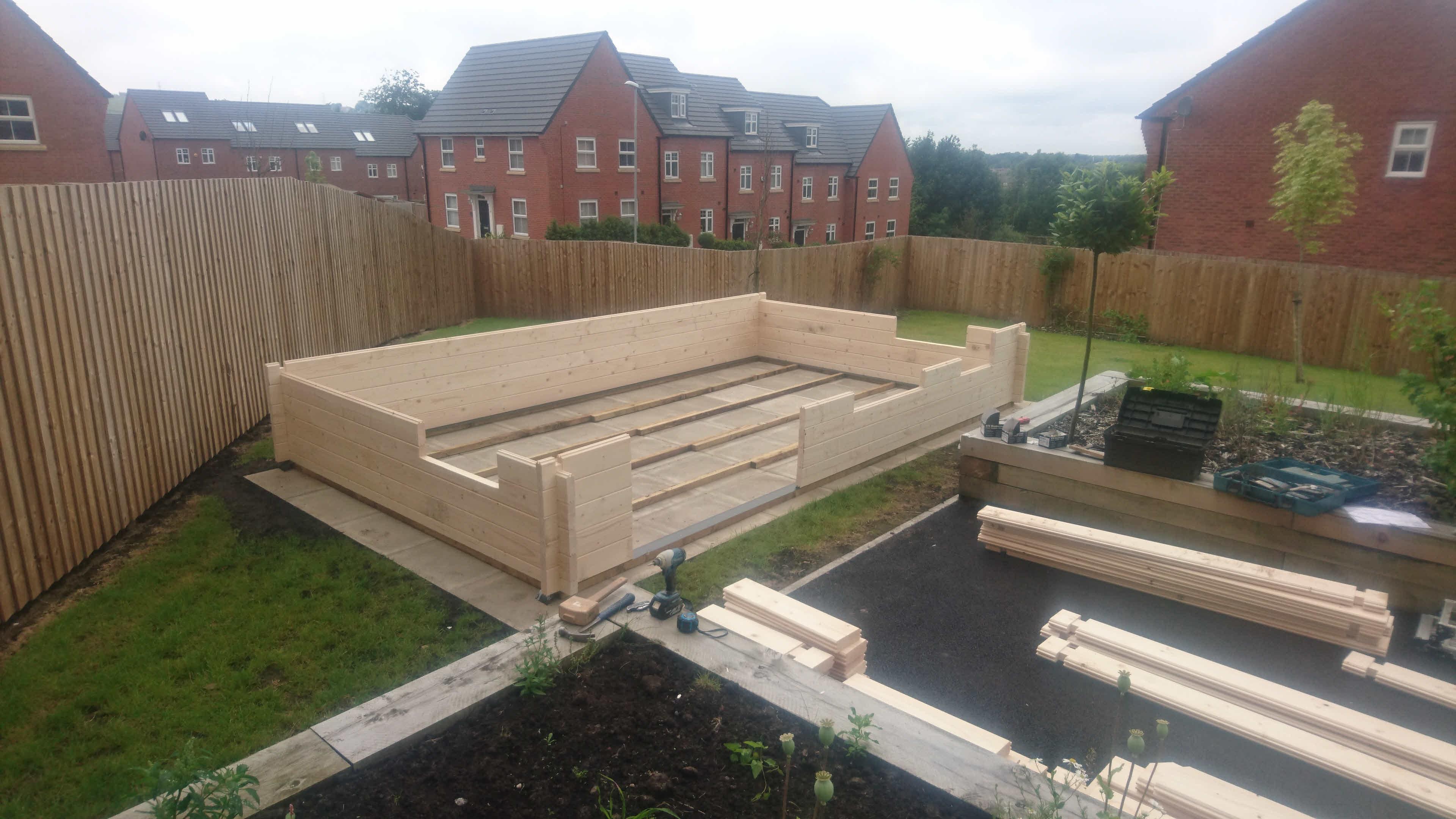 Log Cabin Installation in Blackburn Bespoke Lisburn 5m x 3m_5