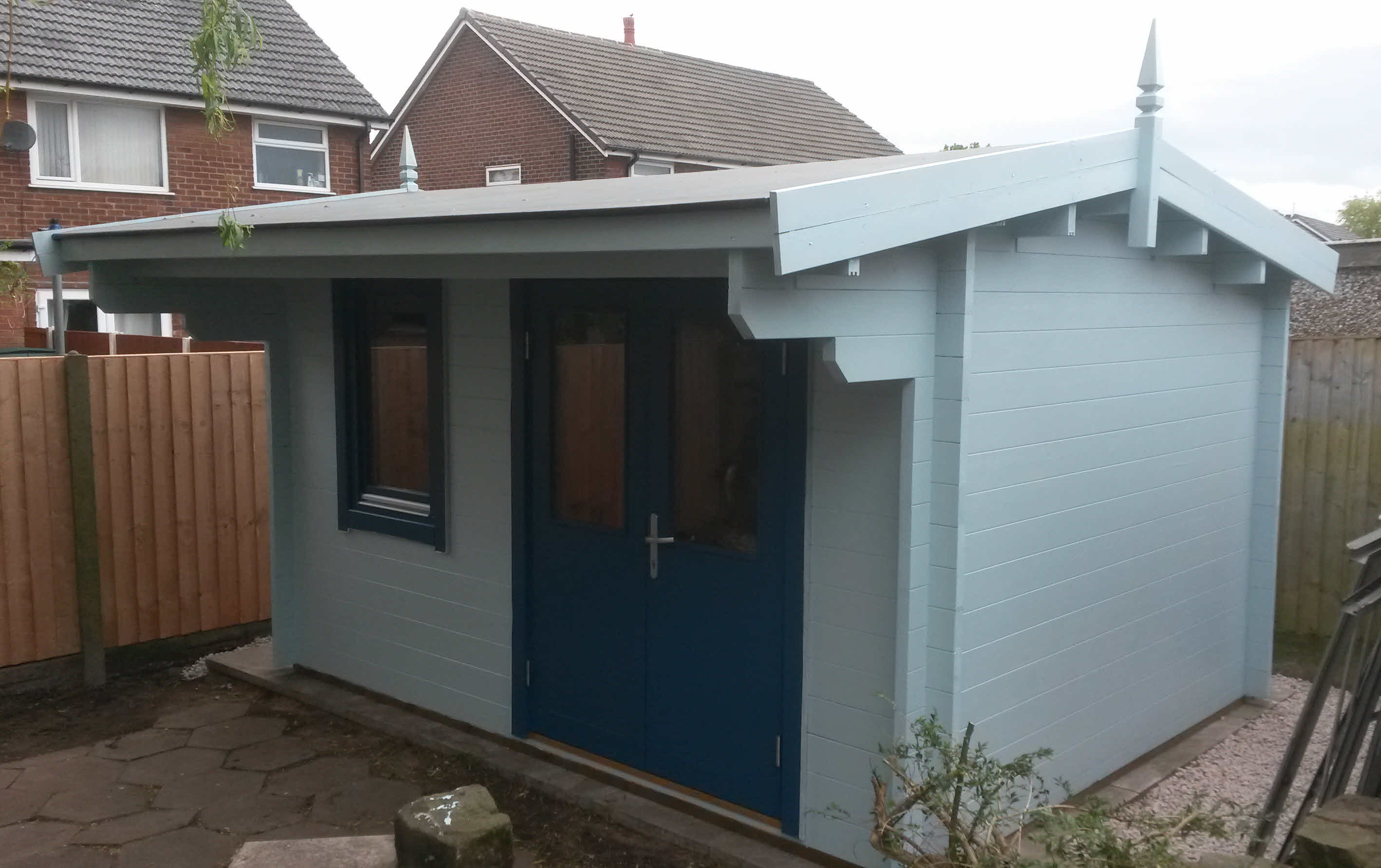 Log cabin installation for a customer in Leyland, Preston.