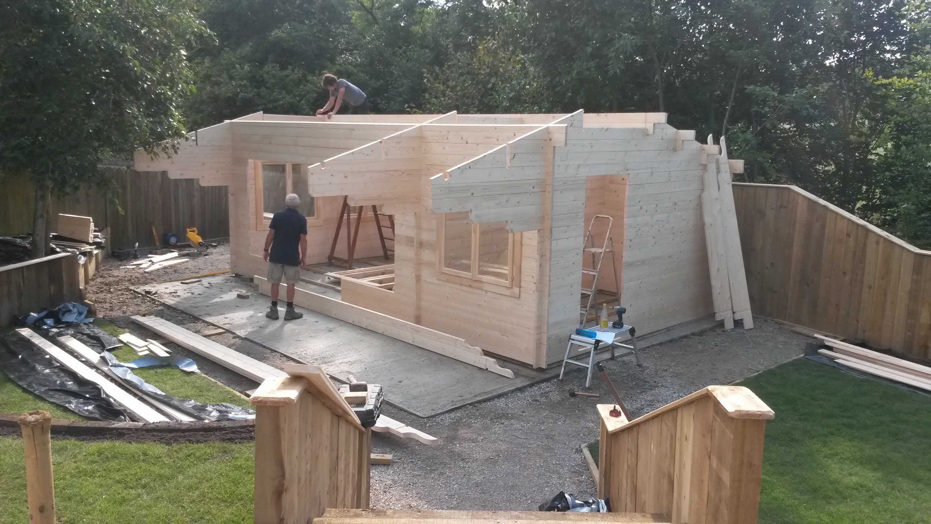 Timber Cabin Installation Gisburn 4m x 7m _1