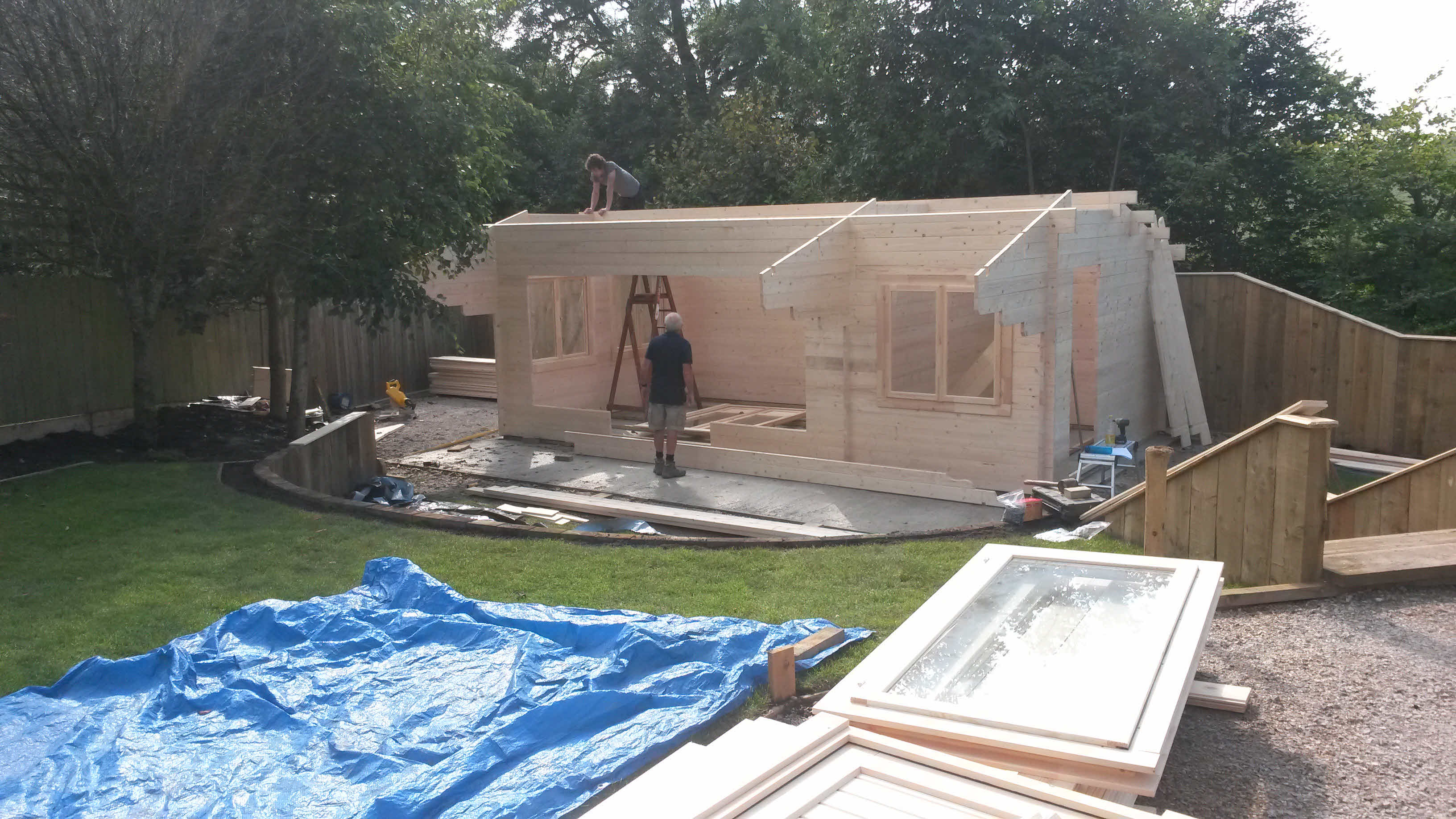 Timber Cabin Installation Gisburn 4m x 7m _2